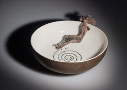 Bronze spiral bowl