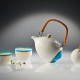 Sea tea set with shell vase